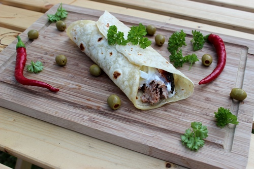 Greek Pulled Pork Wraps