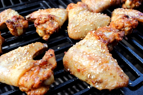 Chicken Wings mit Honey-Maple-Glace