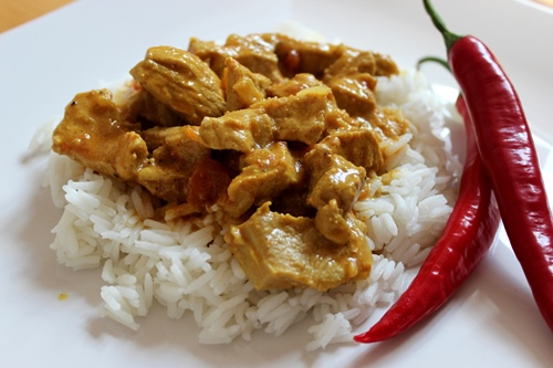 Indisches Vindalho-Curry