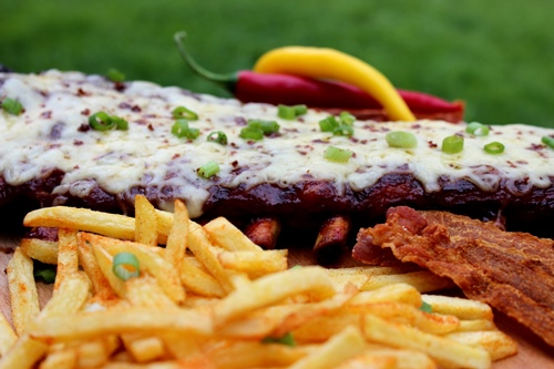 Bacon Powdered Cheese Ribs