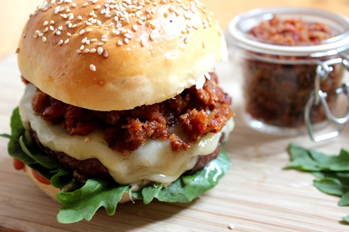 Chili Bacon Jam Burger