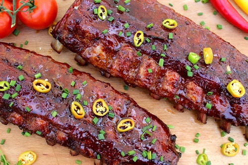 Sweet Hot Glaced Ribs